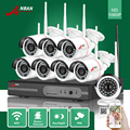 Plug & play nvr 8ch 1080 p hdmi wifi anran 24ir impermeable al aire libre 2mp ip inalámbrica cámara cctv de seguridad de vídeo sistema de vigilancia