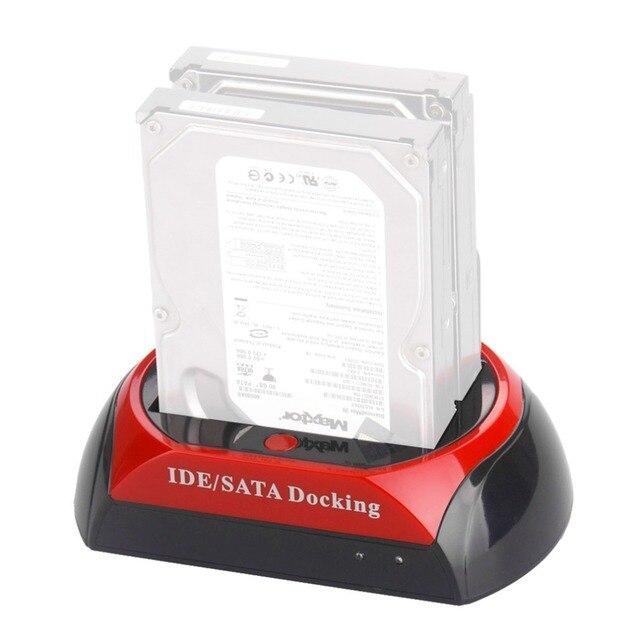 NOSOTROS Conveniente 2.5 Pulgadas 3.5 Pulgadas IDE SATA USB 2.0 Dual HDD Base de Disco Duro Disco duro Estación De Acoplamiento Puede En stock!