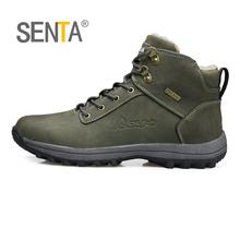 SENTA Cotton-padded shoes hiking shoes for women men snowshoes Snow boots outdoor sport winter big size 36-45 Climbing shoes
