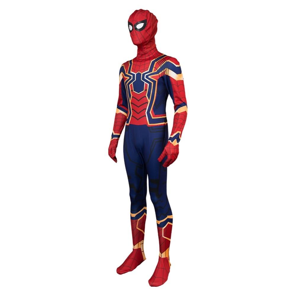 Мстители Капитан Америка гражданской войны Железный паук Человек-паук выпускников паук Костюм Питер Паркер том Холланд Косплэй костюм