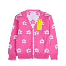 New Autumn Brand Girls Clothing Children girl Sweaters Sunflower casual cotton V-neck cardigans kids girls clothes kids sweaters