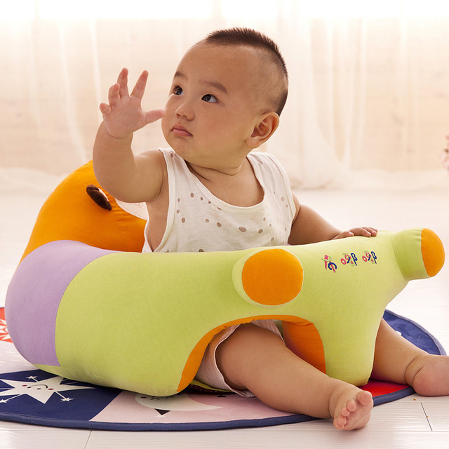 Baby Chair 1pc Cushion Children's Chair For Kids Portable Baby Support Seat Sitting Cushion Without Filling Only Cover Seat Skin 1