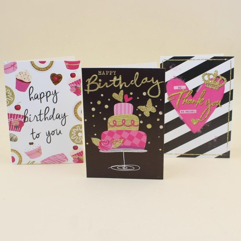 Us 192 18 Teilelos Leiso Marke Handgemachte Danke Gruß Karte Mit Umschlag Glücklich Geburtstag Geschenk Zu Freund Karte Set Freies