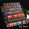 6 Tiers Clear Makeup Cosmetic Acrylic Organizer Lipstick Jewelry Display Stand Holder Nail Polish Rack 31x26