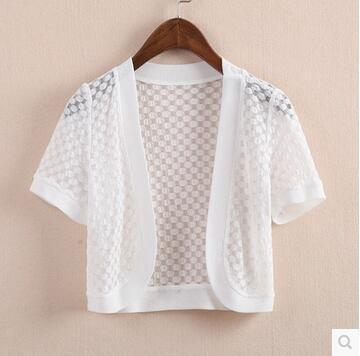 Lace shawl jacket outside summer short paragraph cardigan thin ...