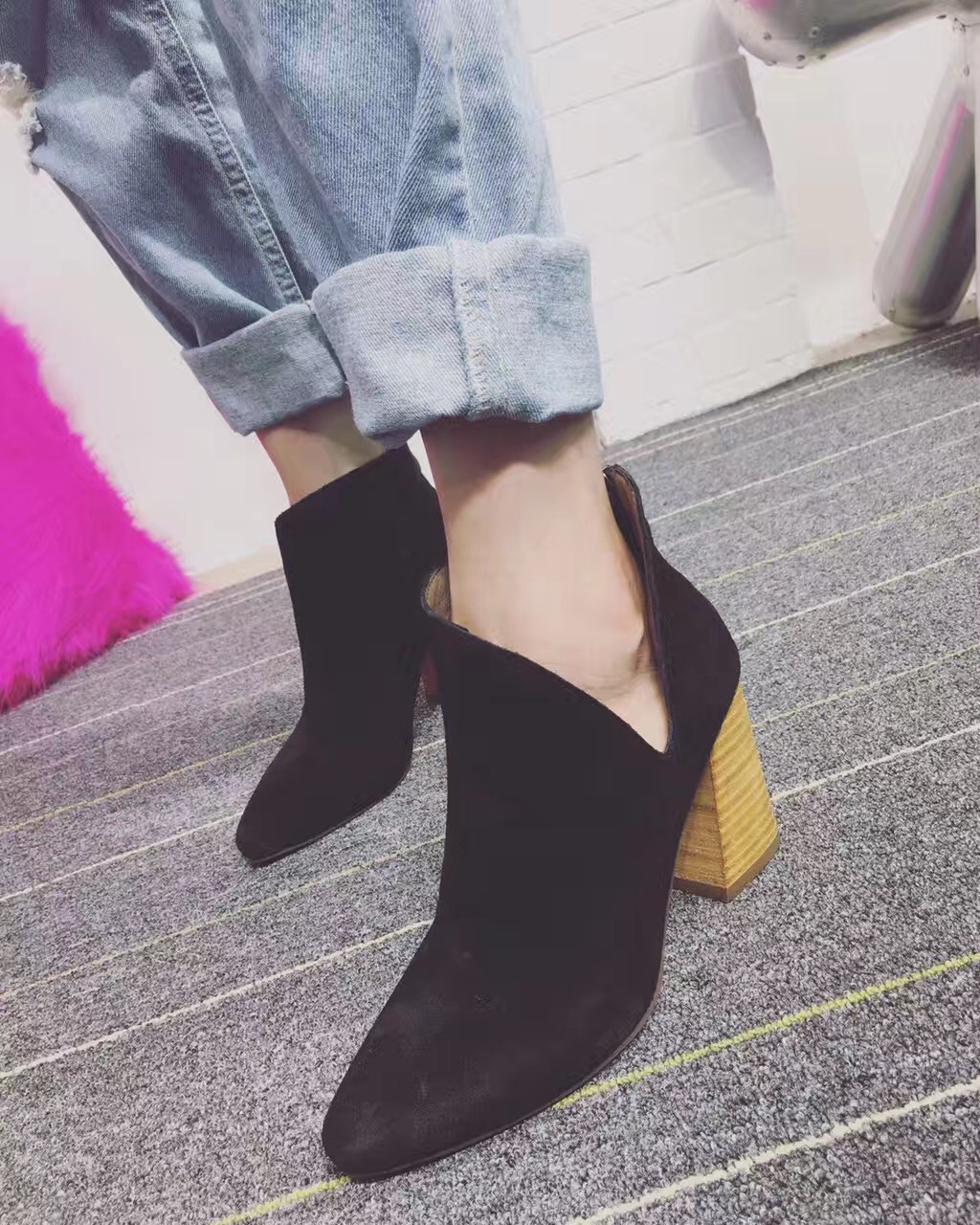ФОТО 2017 New Arrival Cowhide Genuine Leather Ankle Boots Botas Nieve Mujer Winter Boots Women Bottine Femme