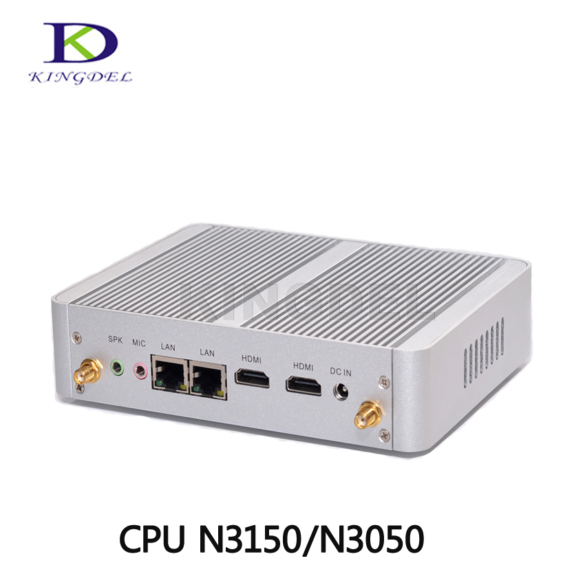 Fanless Desktop PC Barebone Mini PC Intel Celeron N3150 Quad Core N3050 Dual Core, 4*USB 3.0,2*HDMI, 2*LAN,TV Box, Box PC intel celeron j1900 quad core mini pc ddr3 8gb windows 10 mini computer celeron n2930 n2940 fanless barebone hdmi desktop pc