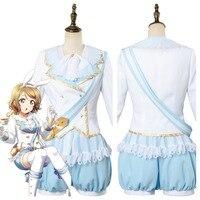 Amore In Diretta! Aqours Si Watanabe delle Meraviglie Alice Cosplay Costume Da Cameriera Vestito Dres
