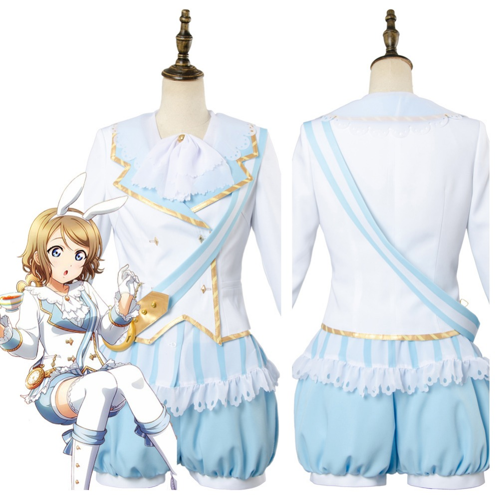 Love Live!Aqours You Watanabe Wonderland Alice Cosplay Costume Maid Suit Dres lovelive love live kunikida hanamaru wonderland alice cosplay costume maid suit dress