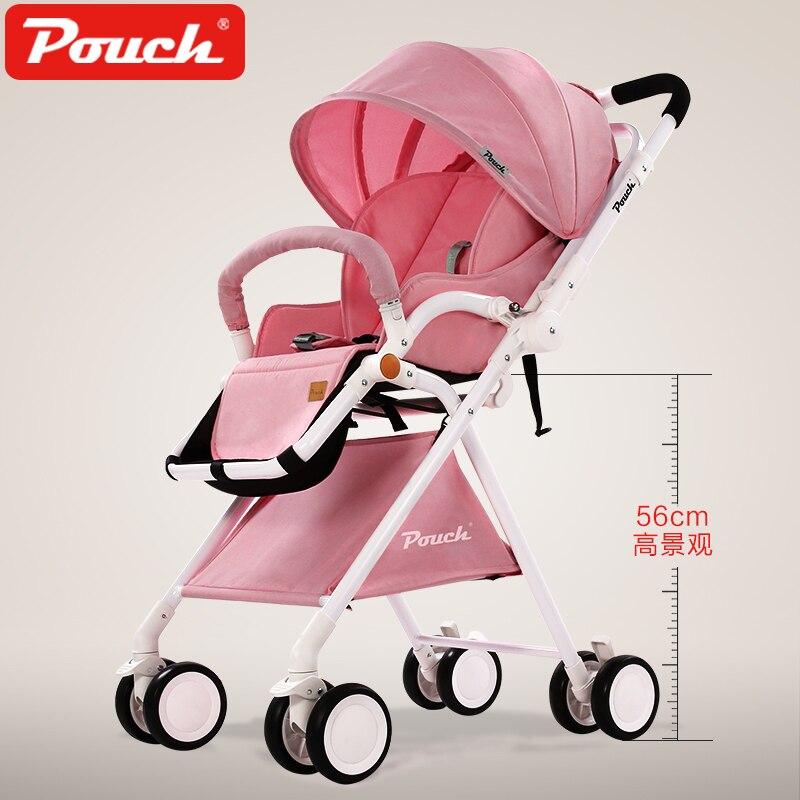 Pochette bébé poussette Super Portable et haut paysage avec amortisseur pliant bébé landau