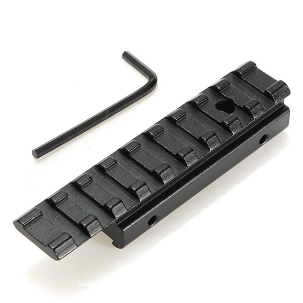 New CNC machining Dovetail Weaver Picatinny Rail Adapter 11mm to 20mm Tactical Scope Extend Mount Free