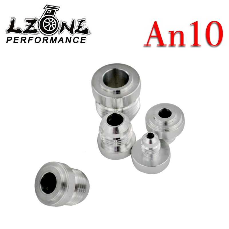 Engine 4pcs/set Top Quality Aluminum An10 an Straight Male Weld Fitting Adapter Weld Bung Nitrous Hose Fitting Silver Jr-sl617-7210