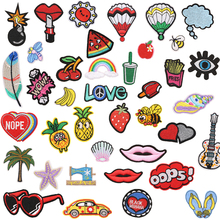 Lovely Patches for Clothes Iron on Patch Embroidered Parches Bordados Clothing Backpack Cloth Stripes 1 PC/Pack
