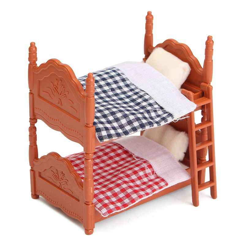 FBIL-DIY Miniature Dollhouse Fluctuation Bed Accessories Sets For Miniatures Furniture Toys Gifts For Children