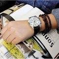 Роскошные PU кожаный Ремешок часы Мужчины Повседневная часы Мужчины Бизнес наручные часы три глаза кварцевые часы Relogio Masculino