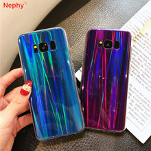 Cool laser Rainbow Shining Phone case For Samsung galaxy J7 Neo Nxt J701 J3 J5 J7 2016 2017 J2 Prime Pro J4 J6 2018 Soft Cover(China)