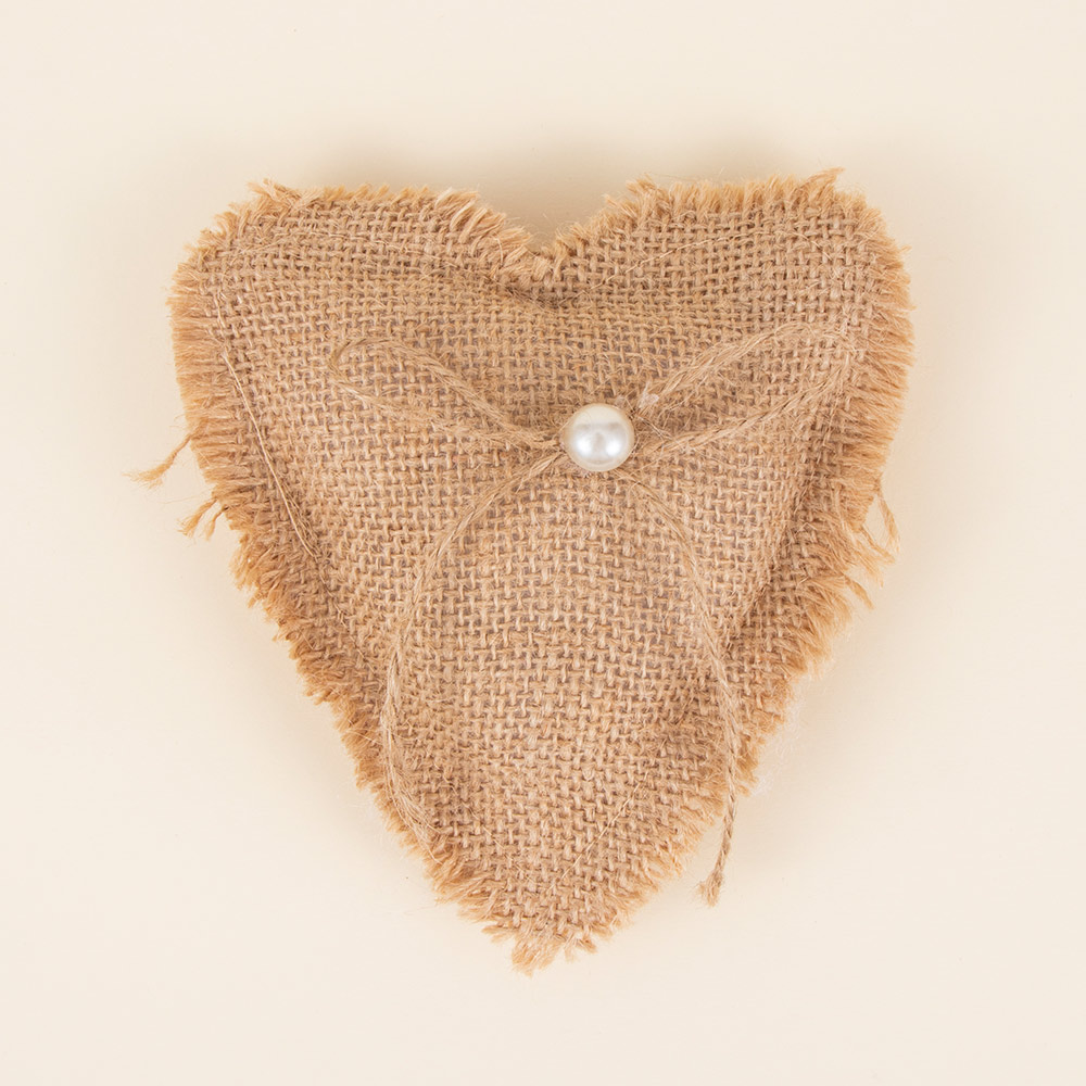 Ring Pillow Lace Bow Vintage Burlap Jute Cushion Wedding Valentine's <font><b>Day</b></font> Gift Ribbon Cushion Wedding Decorations image