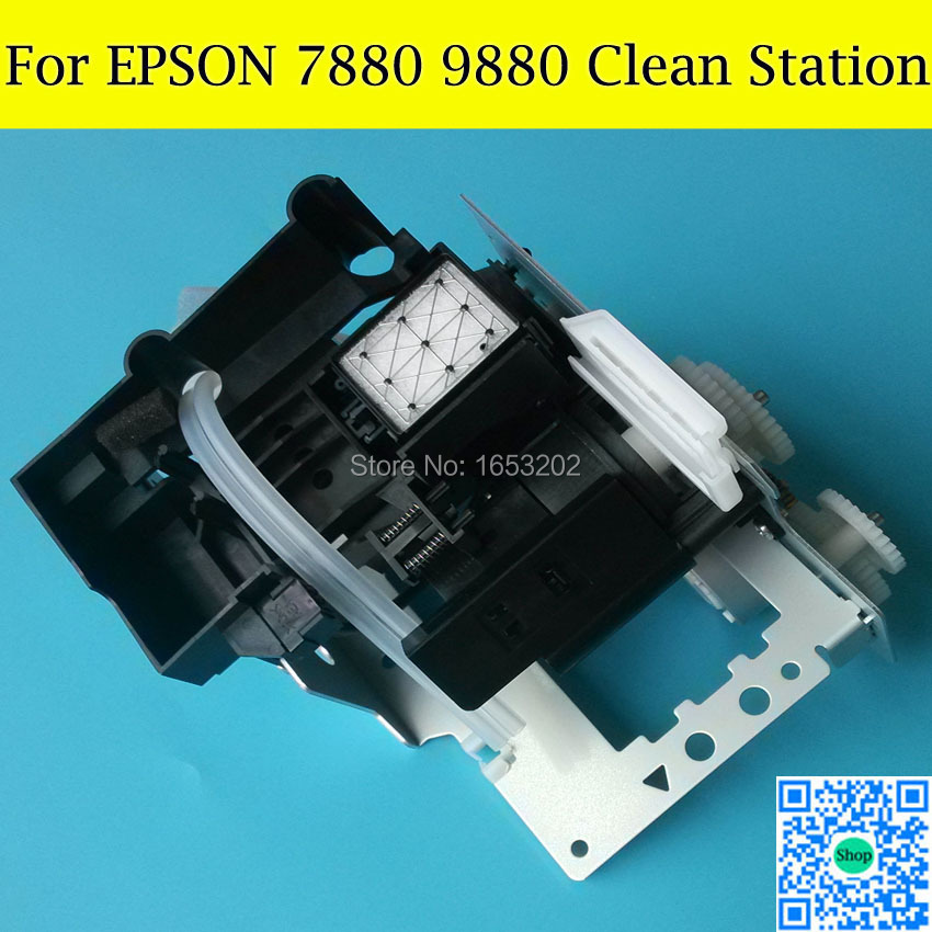 1 PC Original Capping Station+ Pump Assembly For EPSON 7880/9880 Printhead Cleaning Unit original new dx5 cap top station for epson stylus pro 7400 7450 7800 7880 9450 9800 9880 inkjet printer ink pump clean unit