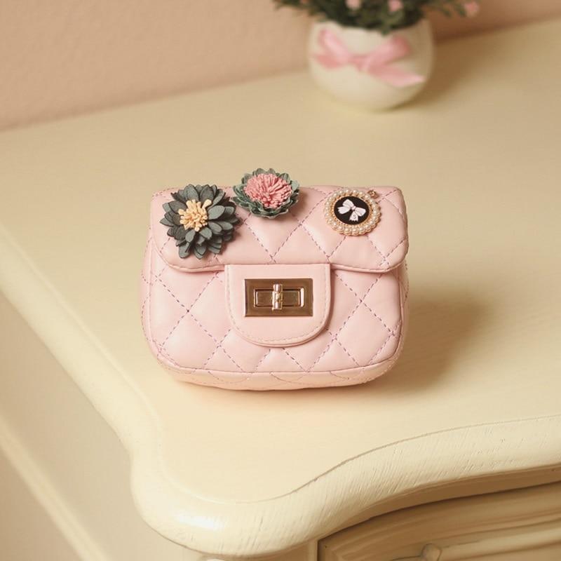 PU leather princess floral coin change purse wallet mini handbag cross-body money pouch bag carteira feminina carteira for girls