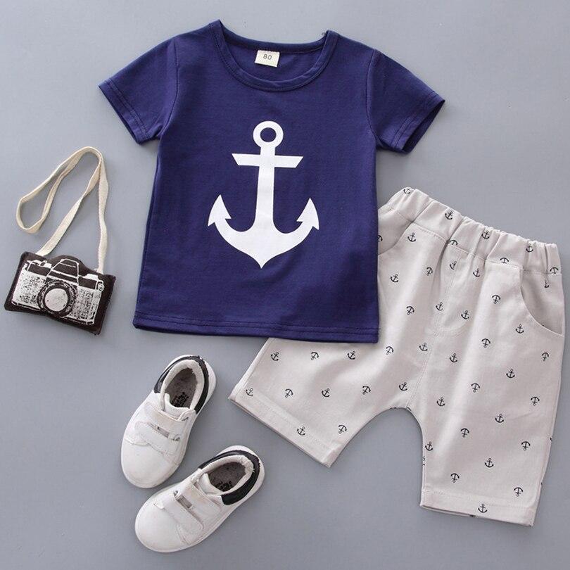 Baby Boys Clothing Sets Summer Clothes Suit Fashion Style Short Sleeve Shirt +Pants 2pcs for Infant Set
