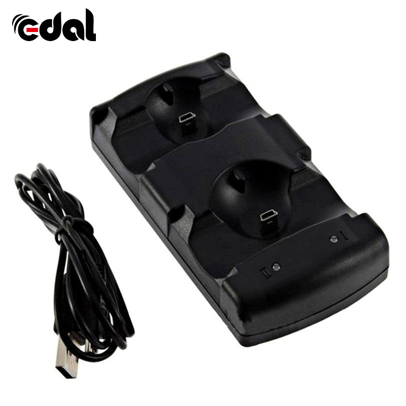 2 In 1 Daul Usb Charging Station Charger Stand Dock Voor Ps3 Move Controller Gamepads Hot