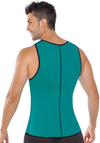 Men Latex Ultra Sweat Hot Waist Trainer Body Shaper Slimming Fit Vest Neoprene Front Zipper Fat Borning Control Top Shapewear (21)