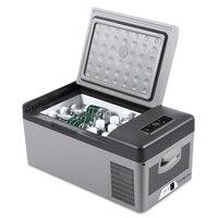 15L холодильник 12 В в/В 24 светодио дный светодиодный цифровой портативный компрессор автомобильный холодильник замораживание для дома путеш