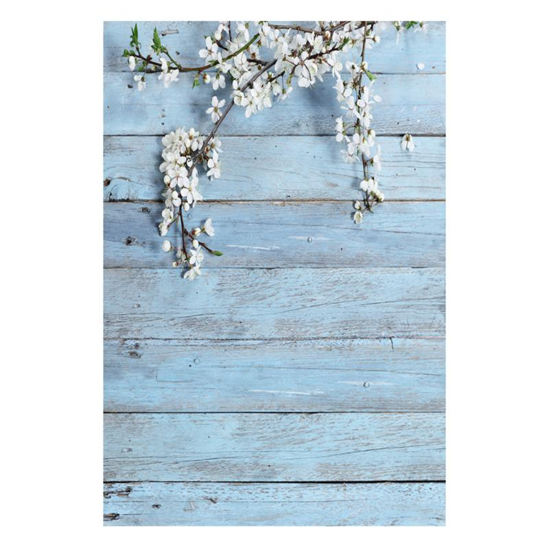 High Quality Wood Wall Pear Flowers Photography Background 0.9*1.5M  3D Art Cloth Photo Backdrops For Studio Take Photo