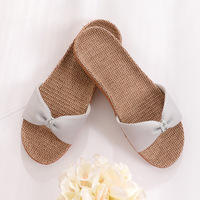 6816 home Sandals household linen thick soft bottom bottom wear shoes
