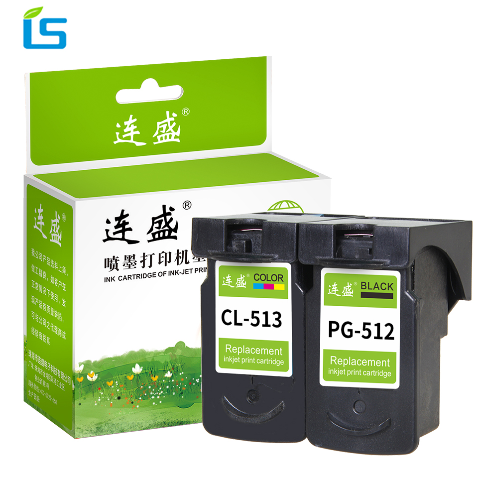 2Pcs/set PG 512 PG512 CL 513 Refilled Ink Cartridge Replacement For Canon PG-512 CL-513 for Canon MP240 MP250 MP480 MP270 MP230