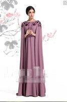 Новый сари вечернее платье Courte Vestidos De formatura вышивка фиолетовый Вечеринка Длинные шаль для матери невесты платья