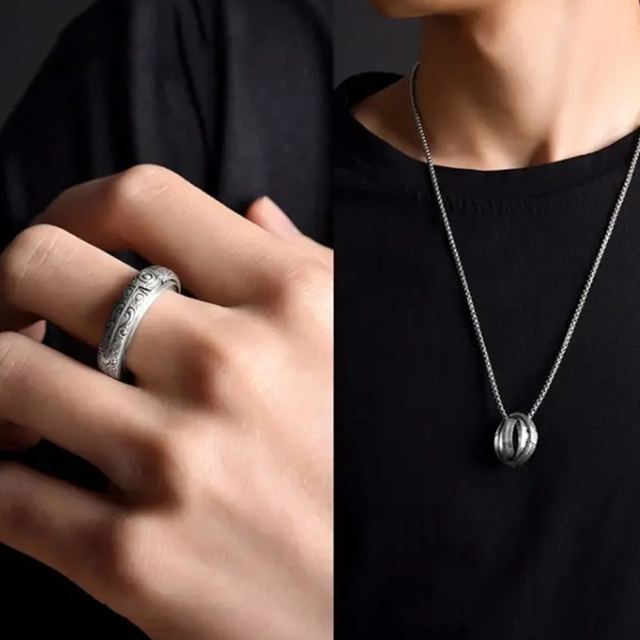 Astronomical Ball Pendant Ring 4