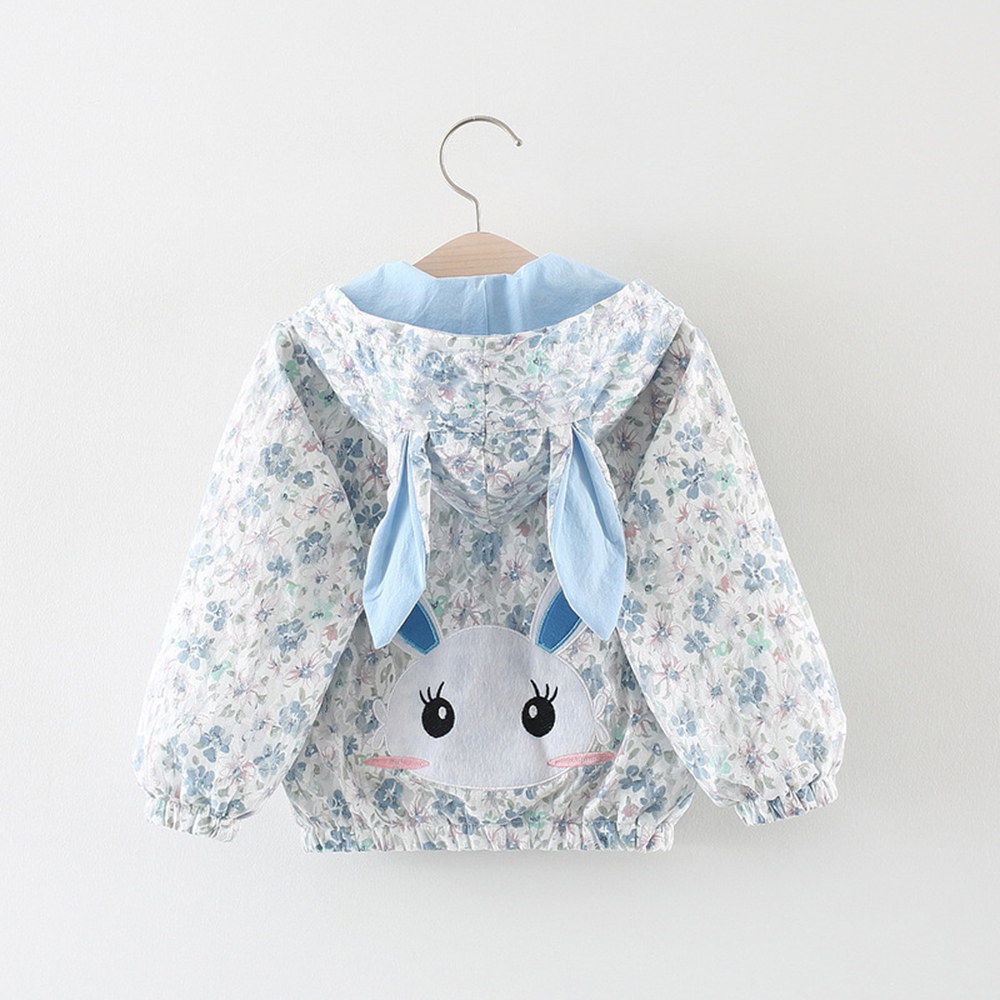 Cute Bunny Coats With Hoodies Toddler Girls Clothe New Autumn Tops Jacket & Coats Baby Outerwear Kid's Girl Outfits bunny rhinestone hoodies pink l 14