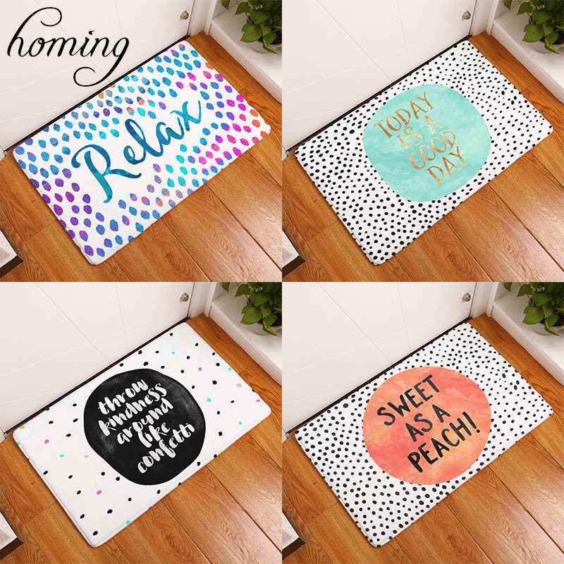 Symbol Of The Brand Homing New Arrive Door Mats For Entrance Door Character Colorful Words Pattern Carpets Living Room Dust Proof Mats Home Decor Be Shrewd In Money Matters Mat