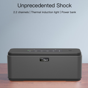 Image 2 - Tiso T12 30W רמקולים פלט 2.2 ערוצים אלחוטי Bluetooth V4.2 רמקולים NFC AUX כוח בנק בית קול סאב מערכת