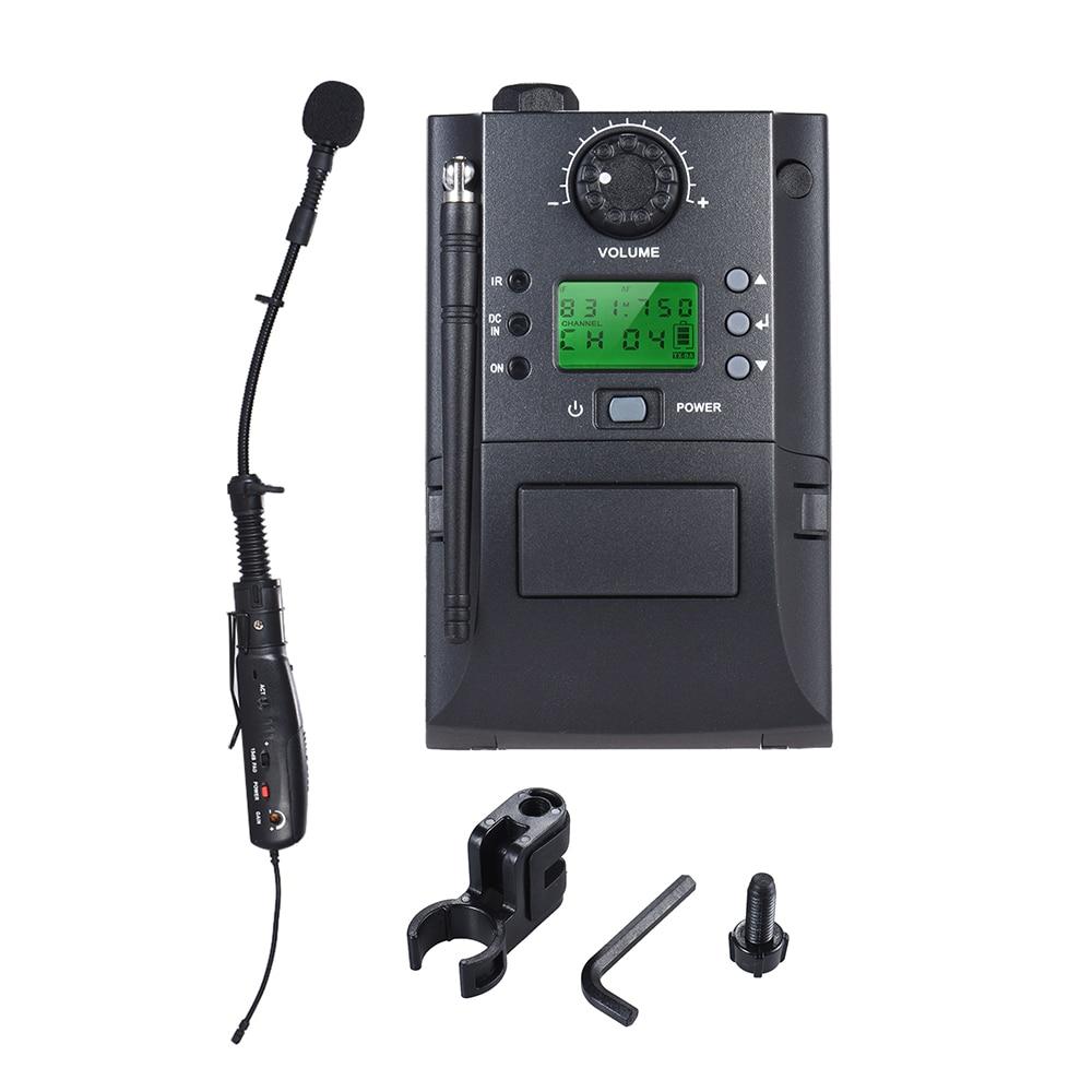Sax Saxophoneスーパーファミコン用のレシーバーおよびトランスミッター32チャンネルを備えたポータブルUHF機器ワイヤレスマイクシステム