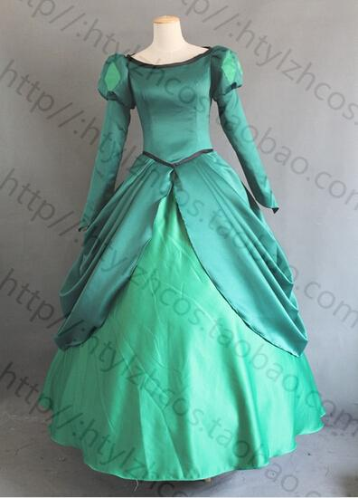 ariel princess costume the litter Mermaid ariel costume fairy tale cosplay dress for women any size