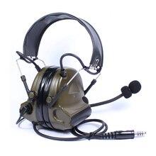 Auriculares tácticos para caza al aire libre, auriculares Airsoft de Paintball, auriculares Comtac de supresión de ruido militar