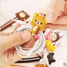 200PCS/lot Cartoon Bear Giraffe Fixed Line Clamp Cable Wire Organizer Cable drop Clip Tidy Cord Holder Bobbin Winder цена 2017