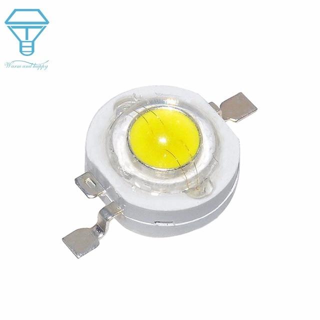 100pcs LED 1W 3W Watt LED Light Emitting Diode headlight Power LED Flashligh LED For SpotLight DownLight Lamp LED Bulb DIY