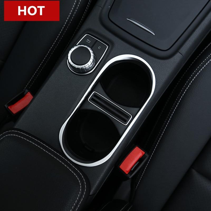 Innenkonsolen-Wasser-Getränkehalter-Abdeckungs-Ordnung für Mercedes Benz CLA C117 X117 W117 2013-2018
