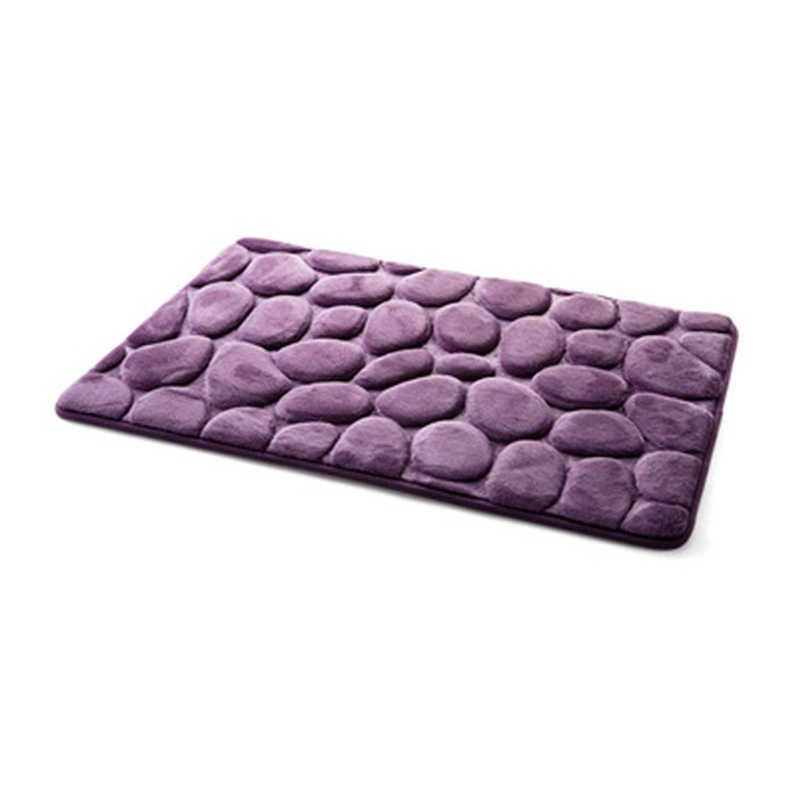 Коралловый флис Ванная комната коврик с памятью формы Комплект туалет ванна нескользящий напольный коврик набор ковриков матрас для ванной комнаты декор 40x60 см