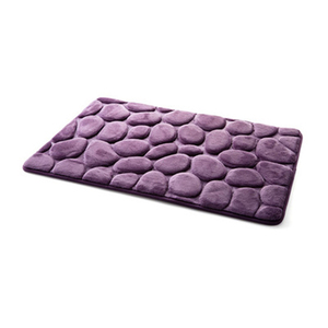 Image 3 - Coral Fleece Bathroom Memory Foam Rug Kit Toilet Bath Non slip Mats Floor Carpet Set Mattress For Bathroom Decor 40x60cm