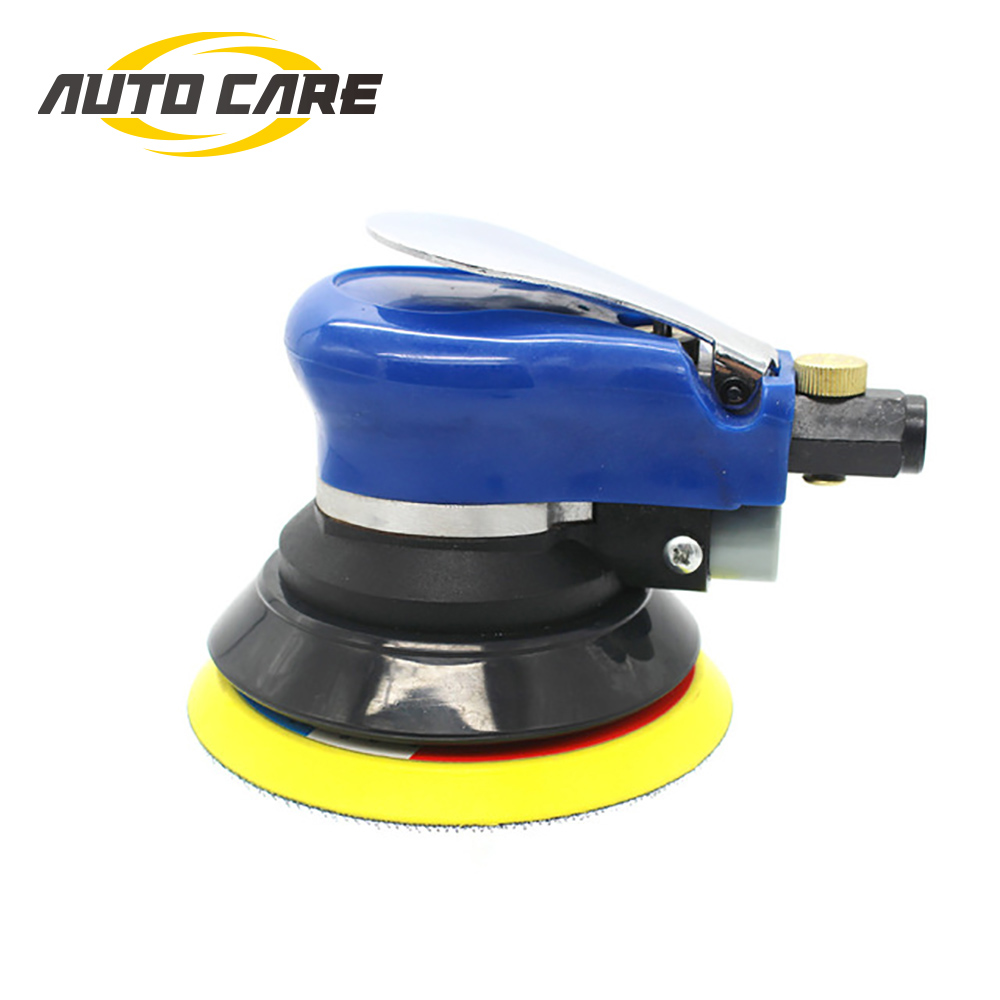 5 Inches 10000RPM Max Pneumatic Air Sander Car Polisher Paint Care Tool Polishing Machine Electric Woodworking Grinder Polisher