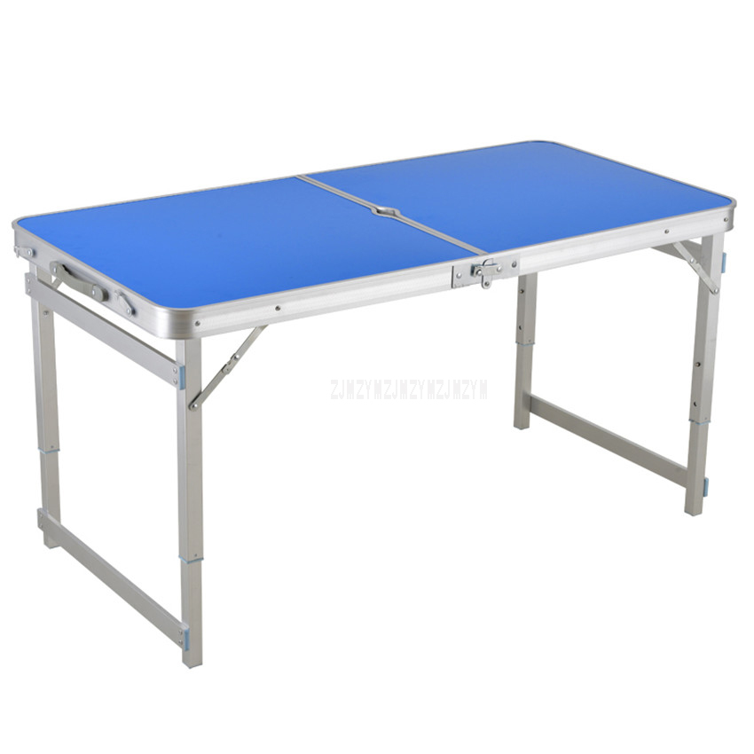Outdoor Folding Table Camping Waterproof Ultra-light Durable Aluminium Alloy Folding Table Desk For Picnic 120*60CM