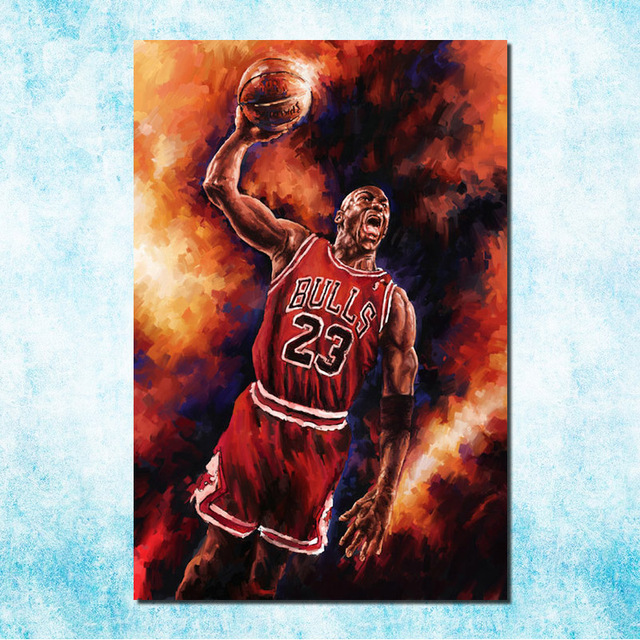 online store a00d0 cd4b1 Michael Jordan Shoes MJ 23 Chicago Bulls MVP Basketball Silk Canvas Poster  13x20inch Picture For Room Decor (more)-15