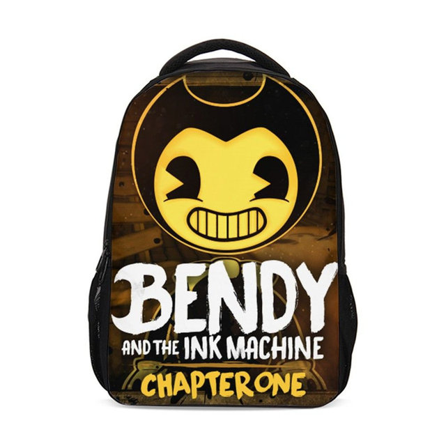 4d22f219613 Bendy And The Ink Machine School Bags For Children Cartoon Backpacks Boys 3D  Print Children Travel Bagpack Mochila Hombre 2018