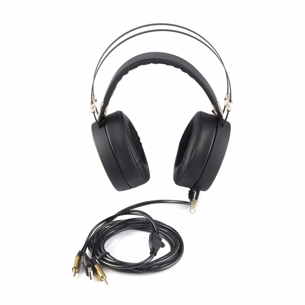 Wired Gaming Headphones A20 RGB Light Game Headset USB 7.1 Earphone with Microphone Volume Control for PC computer Gamer