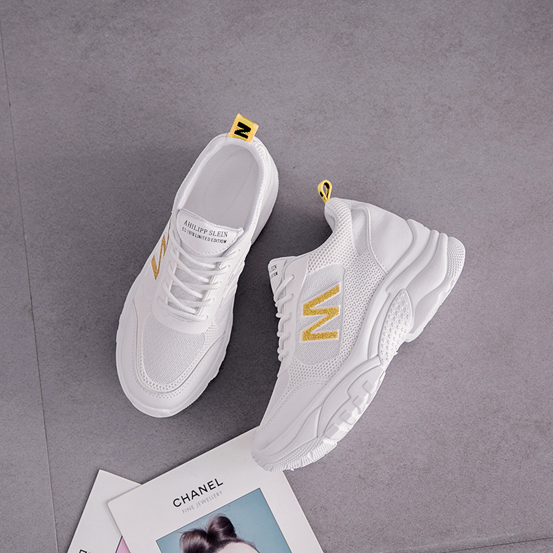 Fashion New Sports Shoes Women Flat Shoes Increased Shoes Outdoor Casual Shoes Breathable Mesh Shoes Women in Women 39 s Vulcanize Shoes from Shoes