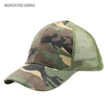 все цены на New Camouflage Summer Cap Mesh Hats For Men Women Casual Hats Hip Hop Baseball Caps Camouflage Net cap Baseball Cap sunshade